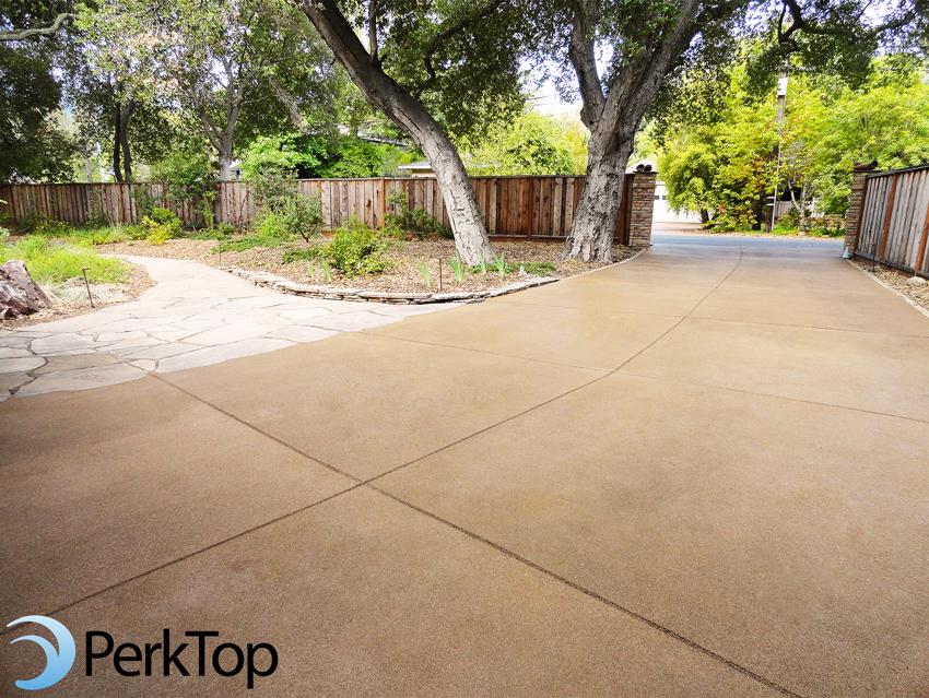 PerkTop-brown-pervious-concrete-driveway