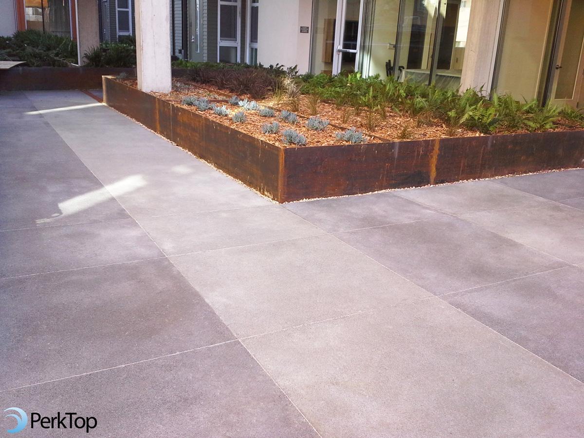 PerkTop-porous-concrete-podium-application